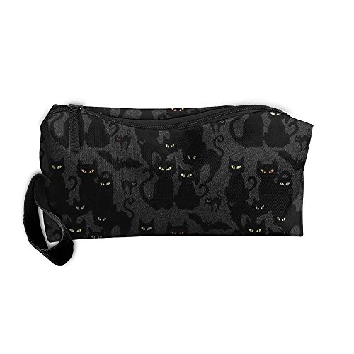 Halloween Cats Eyes On You Cosmetic Makeup Bag,Toiletry Wash Organizer,Makeup Case Pouch,Makeup Organizer Bag With Zipper,Small Zipper Makeup Pouch,Traveller Hanging Toiletry Bag,Cute Graphic Pouch,