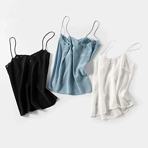 XSHD 2020年春夏メンズタンクトップは、中空シルクの女性のキャミソールスリング女性のチョッキトップの服刺繍 (Color : A white, Size : 40)