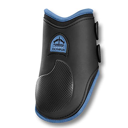 VEREDUS - Olympus Colored Rear Fetlock - Horse Boots - Made in Italy - Black and Light Blu ()