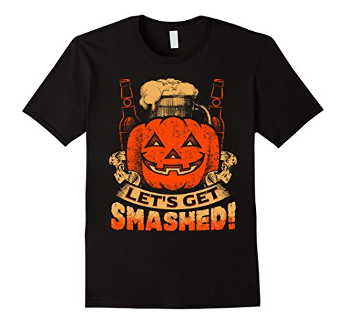 Men's Let's Get Smashed! T-Shirt | Funny Pumpkin Halloween Tee Large (Father Son Halloween Costumes 2016)