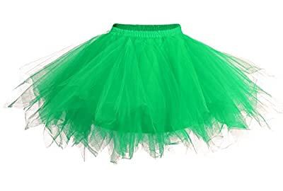 DJT Womens Mini Tutu Skirt with Multi-layer Frilly Petticoat