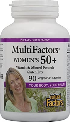 Natural Factors - Women's 50+ Multifactors, Vitamin & Mineral Formula, 90 Vegetarian Capsules