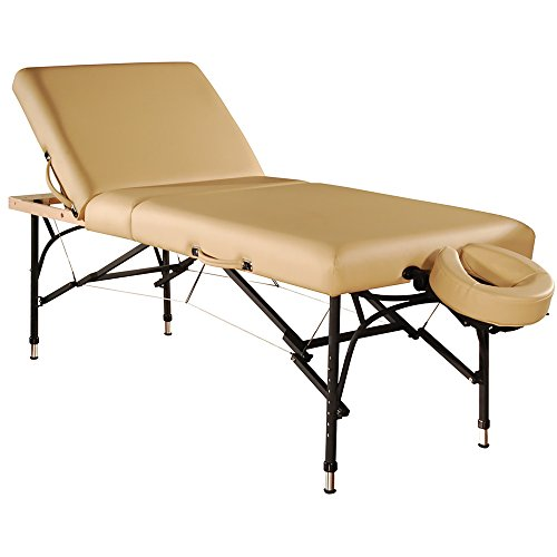 Mt Massage Violet-Tilt 29.5''Liftback Tilting Salon Aluminum Massage Table Package( Beige)