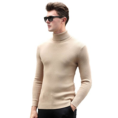 IGoblin Men Circle Neck Knit Wool Sweater Long Sleeve Slim Sweater Jumper