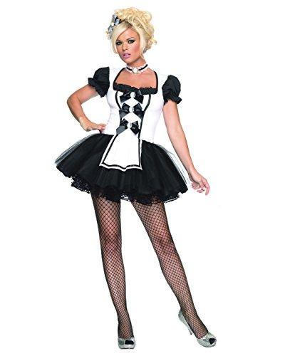 Summitfashions Sexy Storybook Maid Costume Black White Mini Dress TuTu Adult Theatre Costumes Sizes: (Mother Daughter Tutu Costumes)