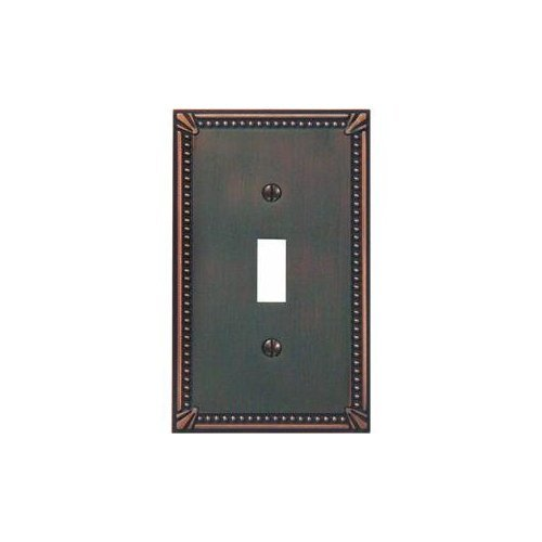 Jackson Deerfield 3001AZ Imperial Bead Antique Single Toggle Wall Plate, - Imperial Imperial Single