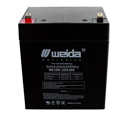 New 12V 5Ah Sla Battery Wb1250f1 Replaces Ub1250  Ps1250  Wka12 5F Usa By Weida