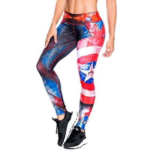 Wholesale Fiber Leggings Superhero Yoga Pants Women's Compression Tights