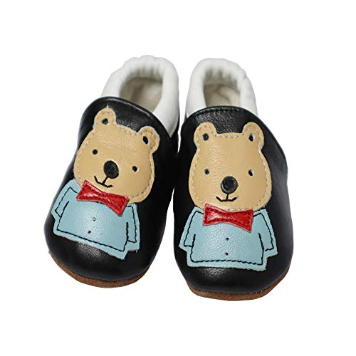 VASHCAME-Babys Prewalker of Soft Leather Non-Slip Breathable Sneaker Toddler Shoes for Newborn Children Boy Girl Infant