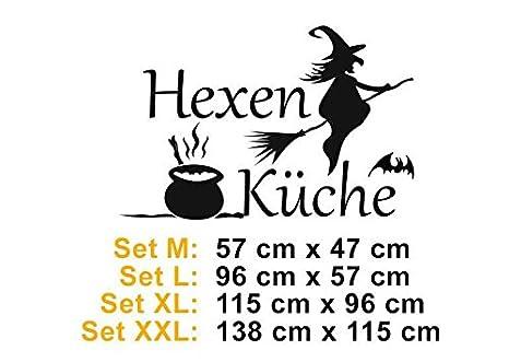 Hexenküche 2, Spruch Wandtattoo 175cm x 115cm, XXL, 042 flieder ...