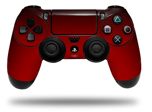 Vinyl Skin Wrap for Sony PS4 Dualshock Controller Smooth Fades Red Black (CONTROLLER NOT - Black Gradiant
