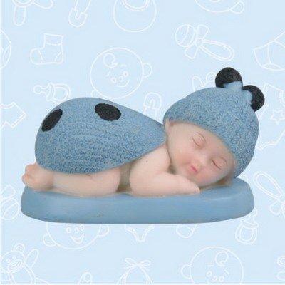 48 Baby Shower Baby Blue Boy Ladybug Favor in Box Favors Gift Keepsake Favor