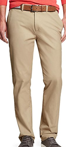 Banana Republic Mens Aiden-Fit Stretch Chino, British Khaki (33/30) from Banana Republic