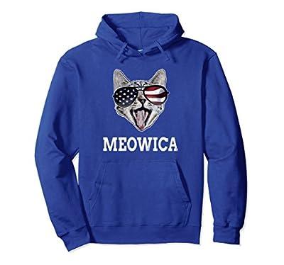 Meowica 4th of July Patriotic Cat American Kitten Hoodie
