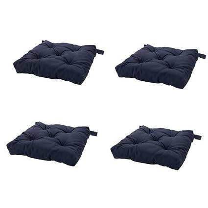 Merveilleux Navy Blue Chair Cushion, Chair Pad, Set Of 4