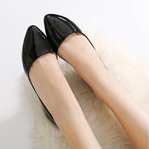 Ama (tm) Casual Slip On Mocasines Zapatos De Barco Zapatillas Zapatos Individuales Negro