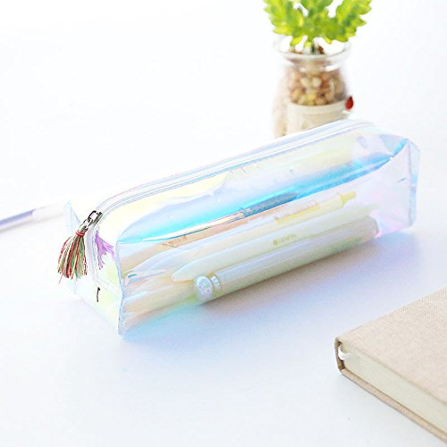 1 bolígrafo transparente para bolsas de recepción, estuche de papelería, caja de regalo bonita transparente, Amarillo,...