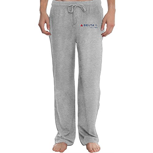 Delta Airlines Logo Cool Men's Sweatpants Ash L ()