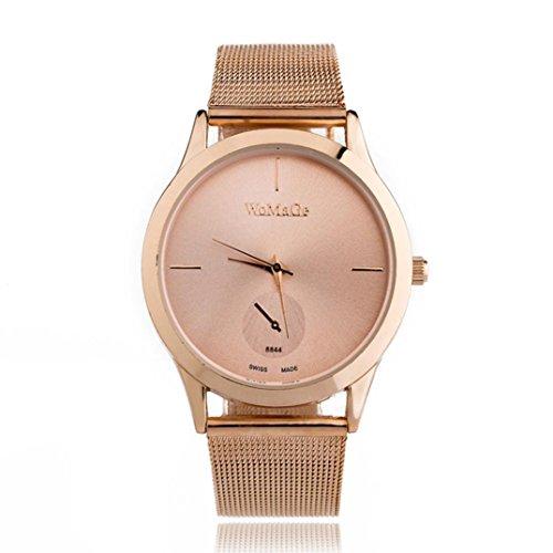 Pocciol Women's Watches Soft Wrist Watches Quartz Fashion Dress Watches Diamonds Dial Minimalist Style Watch (C)