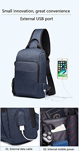 Casual Bag Men Hiking Travel Jl Sling Charging Crossbody Outdoor Black Port Chest Usb Waterproof Women With Sports fOFqgFW