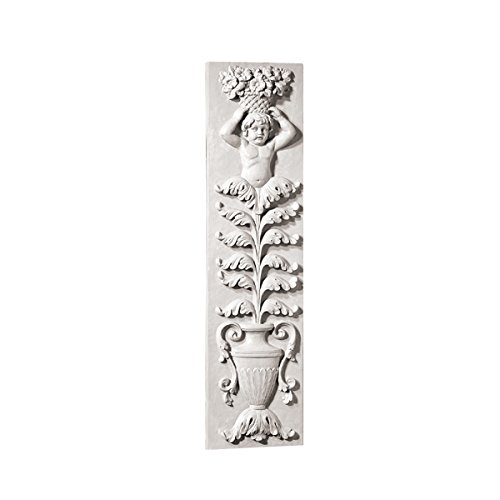 Wall Frieze (Design Toscano Angel of the Urn Sculptural Wall Frieze, Antique Stone)