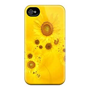 Faddish Phone Bright Yellow Sunflowers Case For Iphone 5/5s / Perfect Case Cover