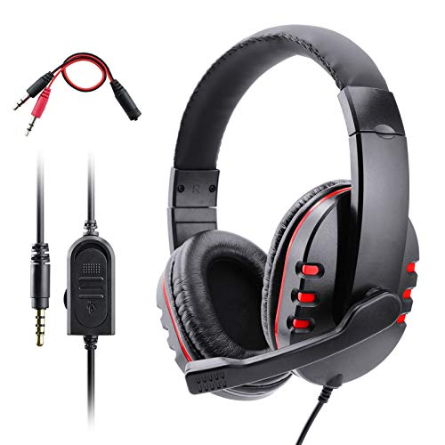 PS4 Headset, Dhaose Gaming Headset for Xbox one s 3.5mm Wired Over-head Stereo Gaming Headset Headphone with Mic…