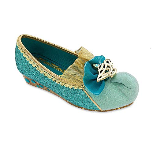 Disney Jasmine Costume Shoes for Girls Size 7/8 TODLR Blue >Runs Small< -