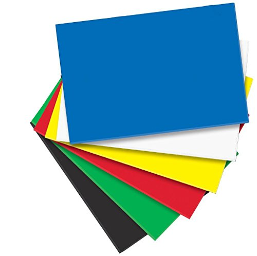 Creative Hands by Fibre-Craft – 12-Piece Colored Foam Sheets – Arts and Crafts – No Scissors or Glue Required – 12 Inches by 18 Inches – For Ages 3 and Up