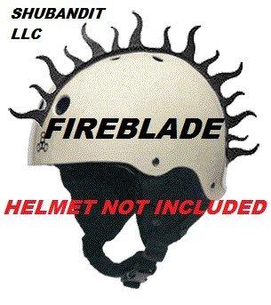 Snowboarding Ski Helmet bmx Mohawk Peel and Stick Rubber Helmets Mohawks Warhawks Skate Roller Derby Skateboard Dirt Bike Bicycle Bmx Mountain Bike Helmet Mohawk (Helmet Not Included)