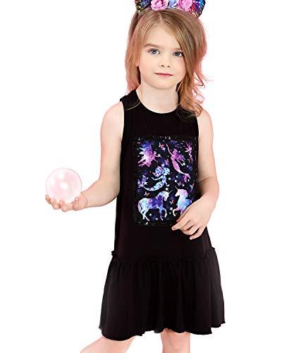 Liliane Girls Dresses Unicorn Dress Little Girls Black Dresses Size 7-16 -