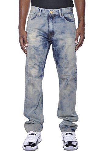 Jordan Craig Artisan Series Tye-Dye Straight Fit Jeans (36x32, Vintage) by Jordan Craig