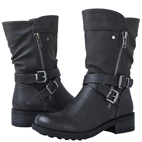 GLOBALWIN Women's 18YY05 Grey Fashion Boots 8M (Cheap Fashion Boots)