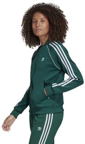 Adidas Originals Super Star Veste de survêtement pour femme Collegiate Green.