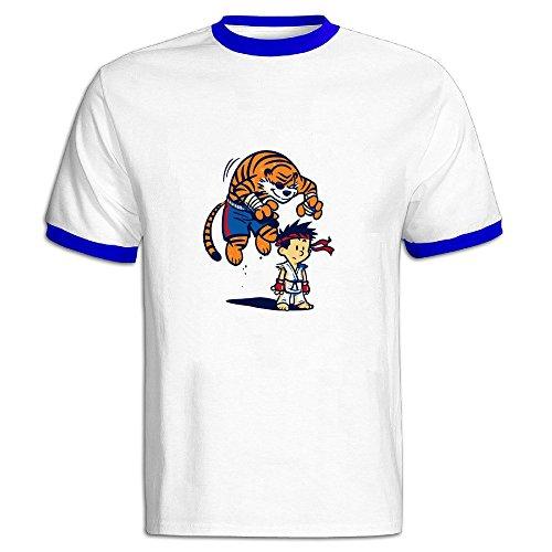 - AWSY Men's Tiger! Baseball T Shirt RoyalBlue