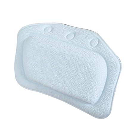 SODIAL(R) Home & Garden Bathroom bathtub pillow bath bathtub headrest suction cup waterproof Bath Pillows Bathroom Products Blue 097174A6