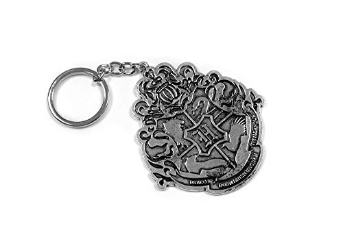 Authentic Harry Potter Hogwarts Crest 3 Inch Diecast Keychain Stylish 3 in Replica Featuring Ravenclaw Slytherin Gryffindor Hufflepuff House Figures Pendant 3