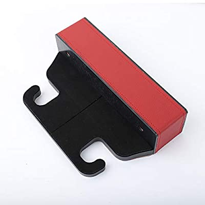 Red PU Leather Car Pocket Organizer Seat Gap Filler Box w/Cup Holder Car Seat Side Drop Caddy Catcher (Can Change Cup Holder Left and Right)(1 Pack): Automotive