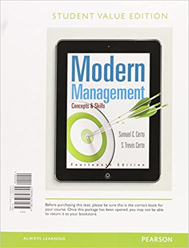 Modern management concepts and skills student value edition plus modern management concepts and skills student value edition plus mylab management with pearson etext access card package 14th edition samuel c fandeluxe Gallery