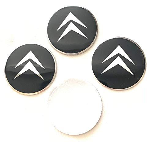Citroen Emblema Rueda Centro Tapa Adhesivo Logotipo Tapacubos - 55 mm Dome - Juego de 4: Amazon.es: Coche y moto