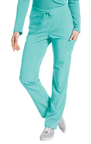 Fit by White Cross Women's 397 Drawstring/Back Elastic Waist Cargo Pant- Moonlight Jade- Medium (String Moonlight)