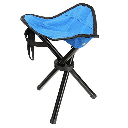 Outdoor Portable Folding Tripod Camping Hiking Fishing Picnic Stool Chair Seat color Blue #006