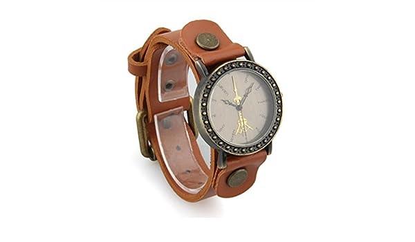 Amazon.com: TOOGOO Wristwatch Unisex Retro Fashion Tanned Quartz Wristwatch Leather Brown Watch: Watches