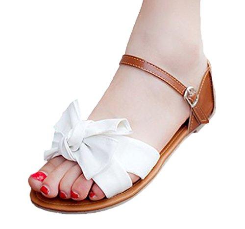 Insun - Sandalias de vestir de Material Sintético para mujer Blanco - blanco