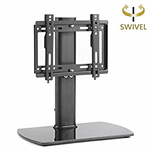 rfiver universal swivel tabletop tv stand with mount for 26 37 led lcd and plasma. Black Bedroom Furniture Sets. Home Design Ideas