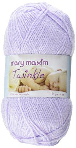 Mary Maxim 599004 Twinkle Yarn-Lilac ()