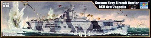 Carrier Model (TRP05627 1:350 Trumpeter German Navy Aircraft Carrier DKM Graf Zeppelin [MODEL BUILDING KIT])