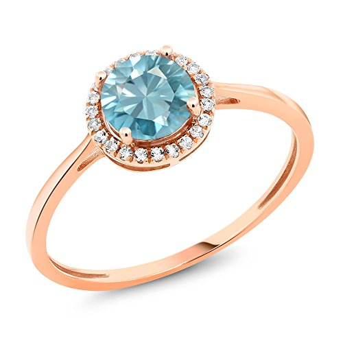 Genuine Blue Zircon Ring - 9
