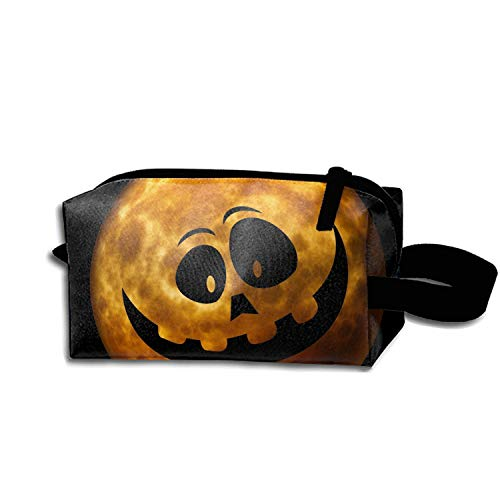 JONHBKD Cosmetic Bags Portable Travel Toiletry Pouch Halloween Jack-o-Lantern Makeup Organizer]()