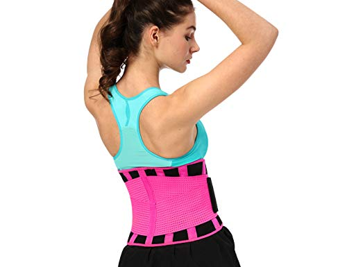 (TOPLEAP Back Brace for Women Men, Lower Back Brace, Lumbar Support Belt with Adjustable Straps and Breathable Mesh, Back Braces for Lower Back)